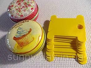 Шпули (бобинки) для намотки-хранения мулине пластиковые желтые