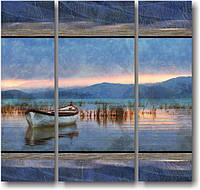 "Модульная картина ""Большое озеро""  (950х1000 мм)  [3 модуля]"