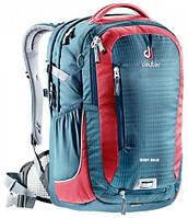 """Бизнес-рюкзак для велосипедистов GIGA BIKE для ноутбука 17"""" DEUTER, 80444 3514 синий с красным"""