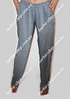 Светлые летние штаны для девушек Батал 13758