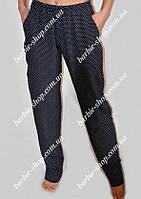 Летние штаны в горошек для девушек Батал 15758