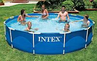 Большой каркасный бассейн Intex 28210, размер 366х76 см, объем 6503 л, вес 21,7 кг, монтаж 30 минут