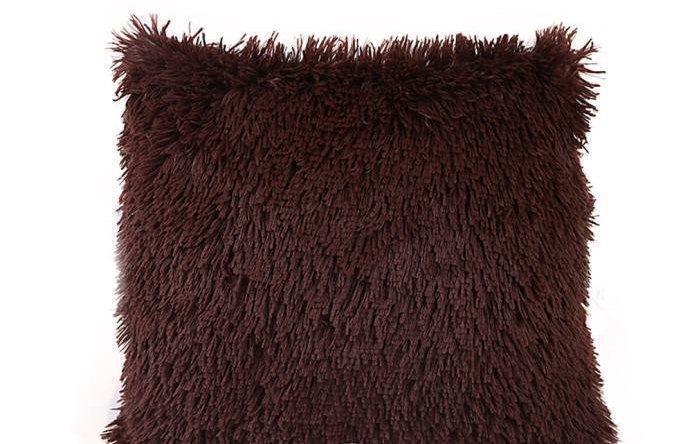 Оригинальные меховые наволочки с длинным ворсом 50 на 70