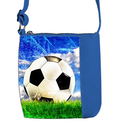 Сумка синяя для мальчика Mini Mister с принтом Футбольный мяч