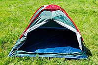 Палатка туристическая  трехместная  для отдыха  на природе,однослойная ,полиуретановая пропитка