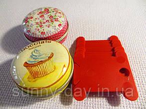 Шпули (бобинки) для намотки-хранения мулине пластиковые красные