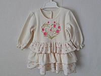 Платье велюр,размер 26-80/86 см