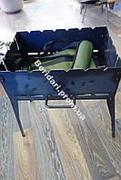 Мангал разборной для отдыха 2 мм 6 шампуров отличного качества  +тканевый чехол