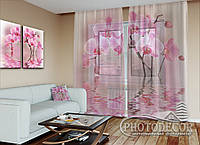 """ФотоТюль """"Нежные орхидеи"""" (2,5м*1,50м, на длину карниза 1м)"""