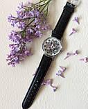 Наручний годинник з оригінальним дизайном. Чорні, фото 5