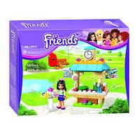 Конструктор Bela серия Friends / Подружки 10543 Туристический киоск Эммы (аналог Lego Friends 41098)