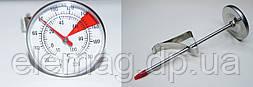 Механический термометр для молока с прищепкой красный уголок -10°С...+100°С