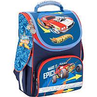 Каркасный школьный Кайт  рюкзак для мальчика ,Хот вилс