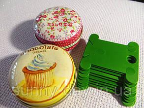 Шпули (бобинки) для намотки-хранения мулине пластиковые зеленые