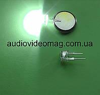"""Светодиод белый 3V 8мм для фонаря, """"кристалл"""", суперяркий"""