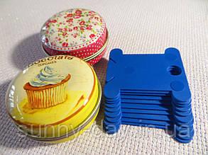 Шпули (бобинки) для намотки-хранения мулине пластиковые синие