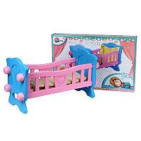 Кроватка для куклы ТехноК 4173 в коробке 59.5-40-33 см
