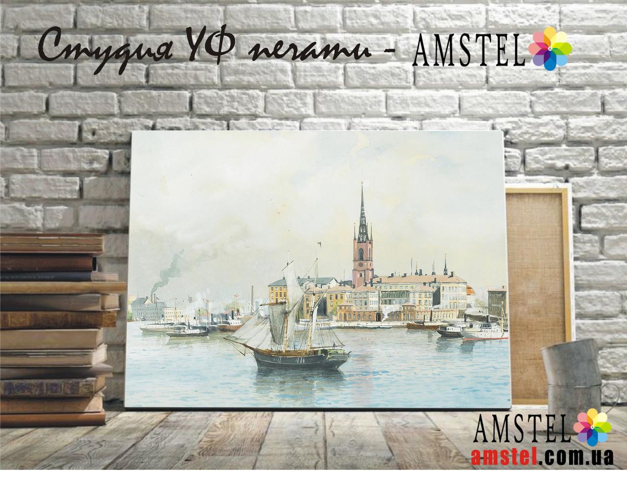 Картини, репродукції на полотні - Кораблі в порту (копія)