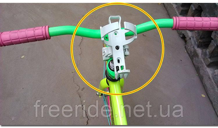 Флягодержатель BETO с адаптером (универсальный) белый 4