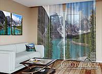 """ФотоТюль """"Озеро в горах"""" (2,5м*3,0м, на длину карниза 2,0м)"""