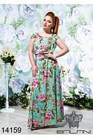 Принтовое платье в пол(48-54), доставка по Украине