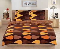 Полуторное постельное белье TAC Neo Brown Перкаль