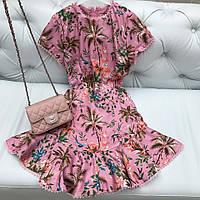 Модное летнее платье Zimmerman пыльно-розовое
