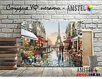 """Печать репродукций на холсте с подрамником, картина """"кафе в Париже"""" размер 30 на 40 см"""
