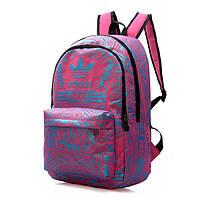 Рюкзак Adidas розовый с голубыми рисунками (реплика)