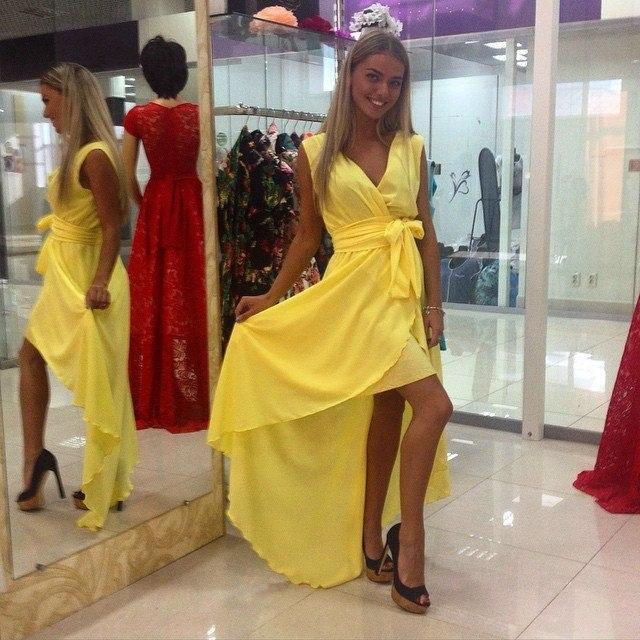 7438d3975a1aaa2 Купить Шифоновое платье на запах в Николаеве от компании