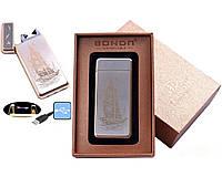Электроимпульсная USB зажигалка Bondn №4770-4, новые технологии, прикуриваем без проблем, подарочная упаковка