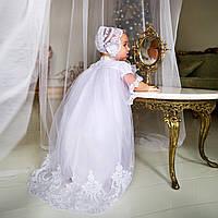 Крестильная рубашка для девочки Вероника от Miminobaby от 6 до 12 месяцев белая