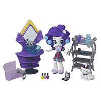 Игровой набор Рарити мини Пижамная вечеринка серия Май литл пони  Мy Little Pony Equestria girls B6039