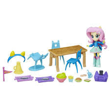 Игровой набор Флатершай мини пижамная вечеринка  Equestria Girls Fluttershy Minis My Little Pony Hasbro B7794