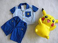 Летний костюм для мальчика р. 86,92,98,104,110.116.