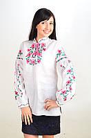Чарівні Маки. Блуза класична. Льон. Блуза в офис с вышивкой., фото 1