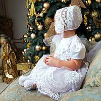Детская шапочка Вероника Ника от Miminobaby белая