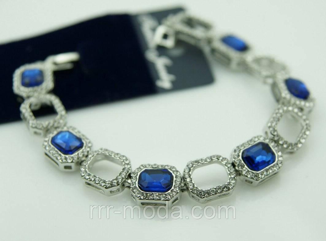 Синие красивые браслеты из камней 1083