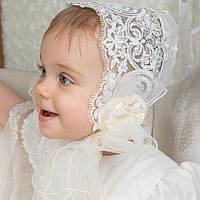Детская шапочка Вероника Ника от Miminobaby молочная