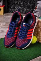 Синие с красным спортивные кроссовки O-13546