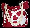 Женская пляжная сумка из ткани красного цвета WUU-100155