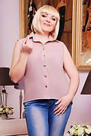 Блуза летняя шифоновая 50,52,54,56