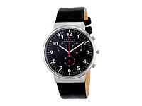 Часы Skagen Ancher Leather черный, видеообзор!