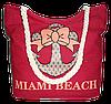 Женская пляжная сумка из ткани красного цвета WUU-100157