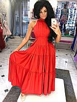 Длинное нарядное платье С карманами, Ткань: софт армани Цвет: чёрный, красный, голубой, сиреневый дпог №1065