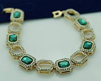 Зелёный красивый браслет из зелёных камней 1086