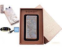 Электроимпульсная USB зажигалка Bondn Dragon №4770-2, необычная зажигалка, модный и стильный гаджет для Вас