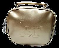 Женская сумочка из натуральной кожи золотистого цвета через плечо BXE-000355, фото 1
