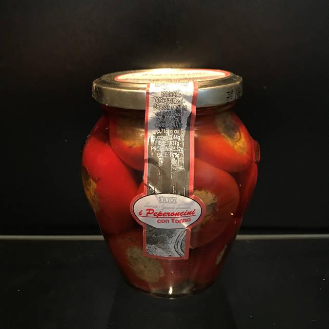 Перец фаршированный тунцом, каперсами и оливками Satos (Италия) 200г