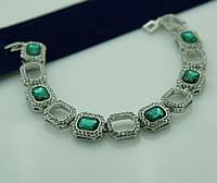 Зелёные красивые браслеты из зелёных камней 1087
